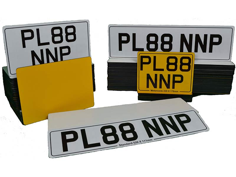 Ready-Made Number Plates