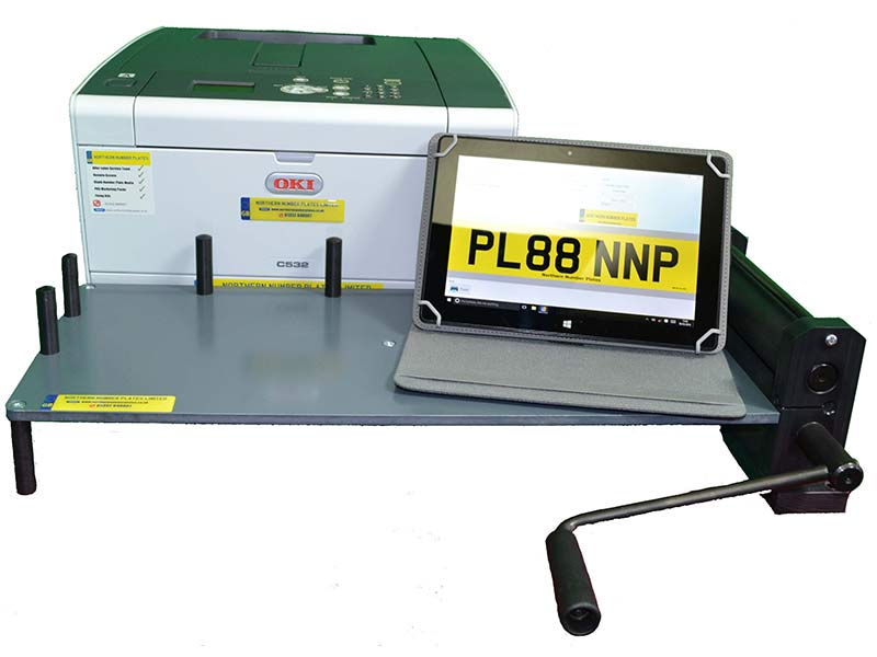 Tablet Based Number Plate Printing Systems
