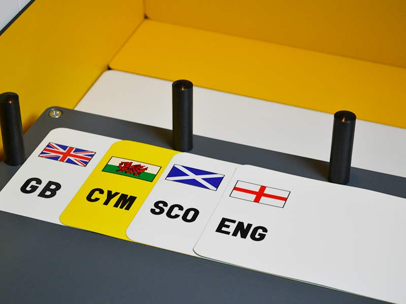 Pre-Printed Flag Reflective