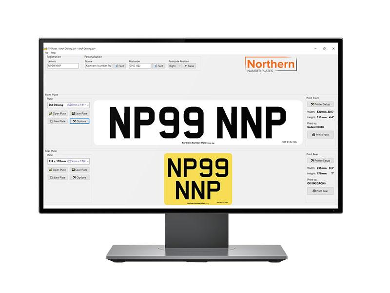 Number Plate Printer Software